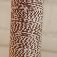 Twinery Striped Cappuccino Cotton Twine for Crafts, Scrapbooks and Packaging