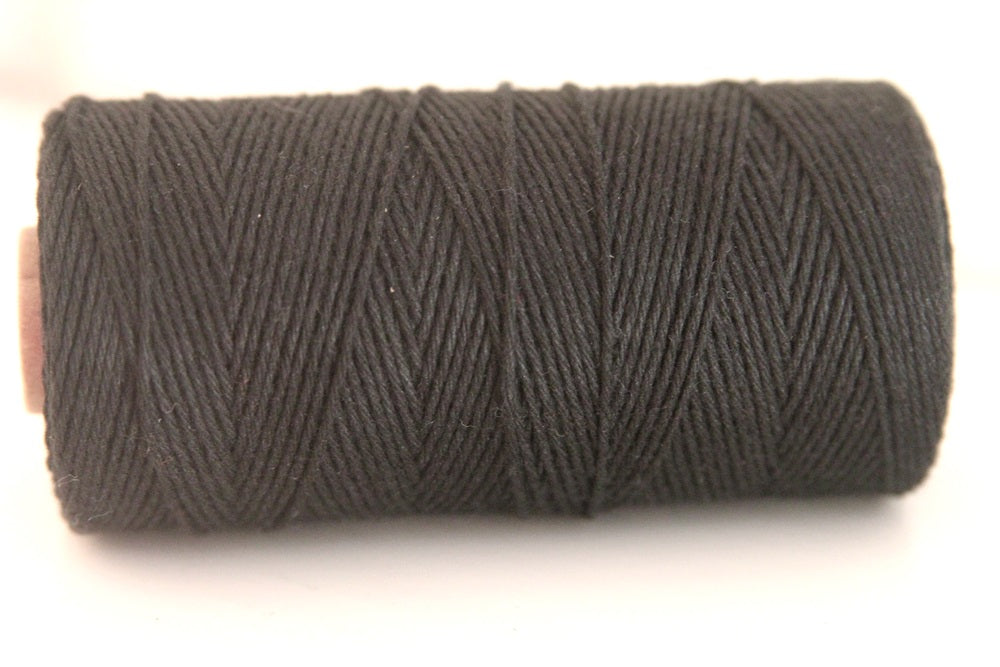 Twinery Solid Charcoal Cotton Twine for Crafts, Scrapbooks and Packaging