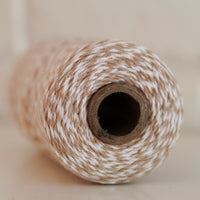 Twinery Striped Flax Cotton Twine for Crafts, Scrapbooks and Packaging