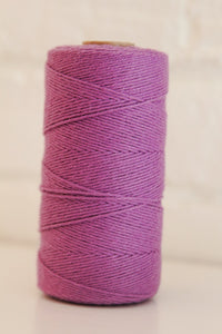 Twinery Solid Lilac Cotton Twine for Crafts, Scrapbooks and Packaging