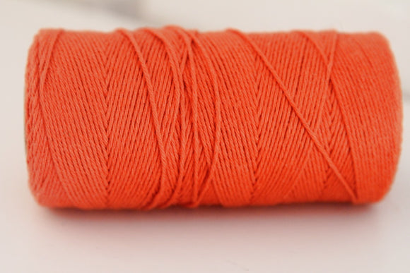 Twinery Solid Mandarin Cotton Twine for Crafts, Scrapbooks and Packaging