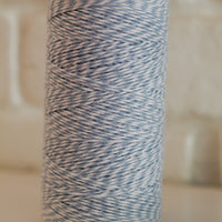 Twinery Striped Shore Blue Cotton Twine for Crafts, Scrapbooks and Packaging