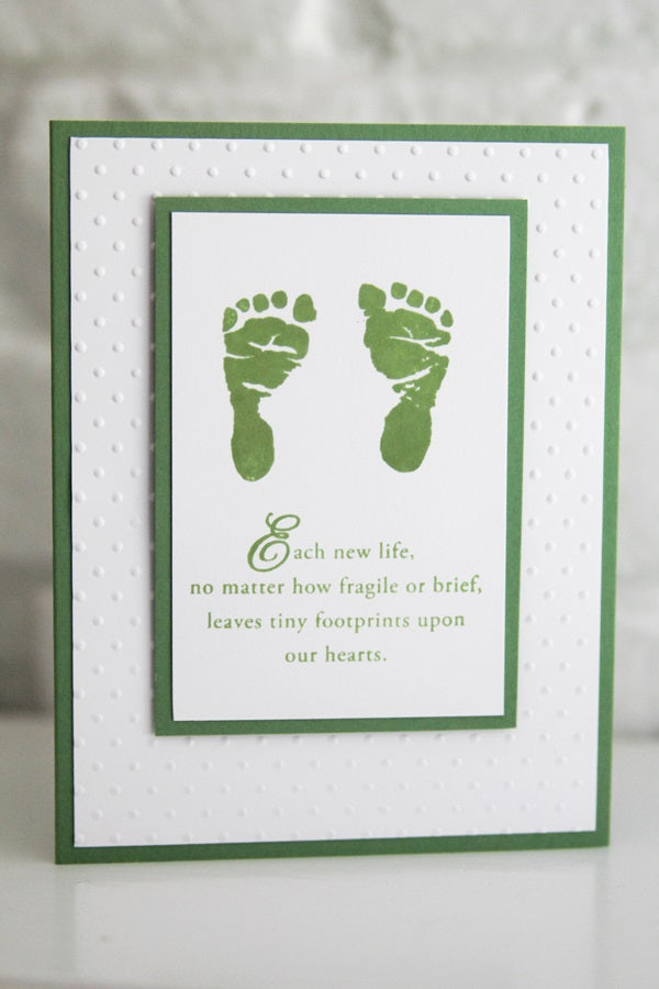 Baby Footprints Sympathy Card, Sorry for Your Loss Infant Card, Miscarriage Sympathy Card