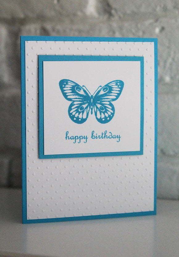 Happy Birthday Butterfly Greeting Card, Blue Butterfly Birthday Wishes
