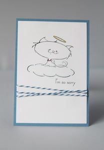 Loss of Cat Pet Sympathy Greeting Card, Sorry for Your Loss Note Card
