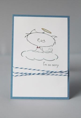 Loss of cat pet sympathy greeting card sorry for your loss note loss of cat pet sympathy greeting card sorry for your loss note card m4hsunfo