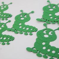 Green Caterpillar Die Cut Shapes Scrapbooking Classroom Crafts Party Decor