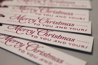 Merry Christmas Holiday Gift Tags, Christmas Party Gift Tags, Hostess Gift Tags and Favors