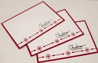 Christmas Thank You Note Card Set Holiday Stationery