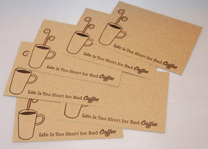 Coffee All Occasion Note Card Set, Coffee Stationery, Thinking of You Note Cards