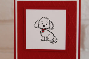 All Occasion Dog with Heart Greeting Card, Valentine's Day Greetings