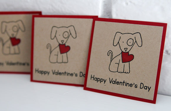 Dog Happy Valentine's Day Card Set,Kids Puppy Valentine Card Sets
