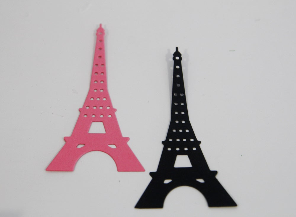 Eiffel Tower Die Cut Shapes Scrapbooking Diy Crafts Birthday Party