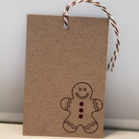 Gingerbread Man Christmas Gift Tag Set, Cookie Swap Tags, Holiday Favor Tags