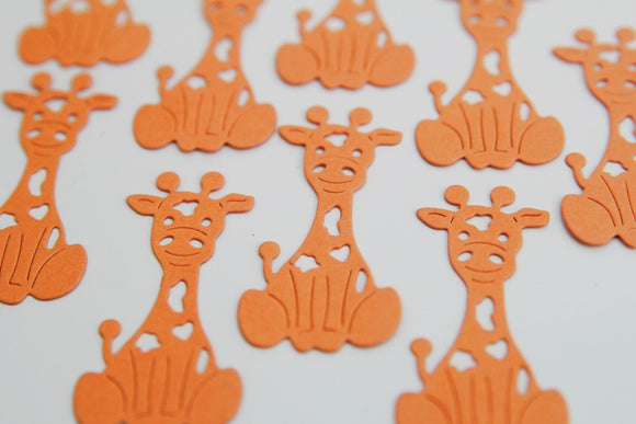Cute Giraffe Die Cut Shapes for Crafts, Confetti and Scrapbooks, Classroom Activities