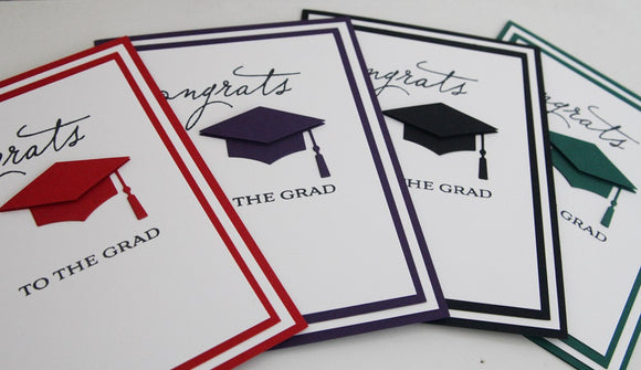Congrats to The Grad Greeting Card, Graduation Cap Congrats