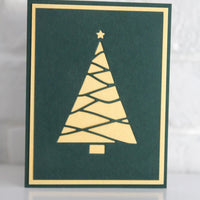Merry Christmas Tree Card, Happy Holidays Greeting Card, Seasons Greetings Christmas Holiday