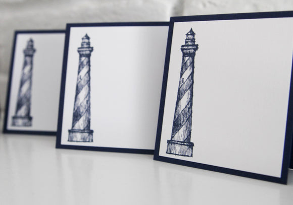Lighthouse Event Place Card Set, Nautical Wedding Place Cards Escort Cards