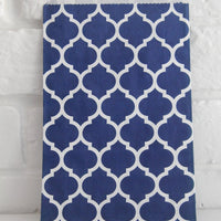 Navy Blue Casablanca Middy Party Favor Candy Treat Paper Bags 5 x 5.75 inches
