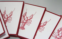 All Occasion Lobster Note Card Set, Lobster Ocean Stationery