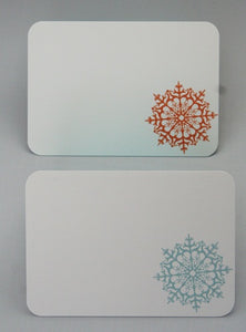 Snowflake Winter Holiday Thank You Note Cards, Winter Wedding Guest Book Alternative