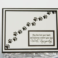 Pawprints Pet Sympathy Greeting Card, Sorry For Your Loss Pet