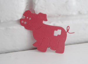 Pink Pigs Die Cut Shapes for Scrapbooks, Crafts and Parties, Classroom Activities