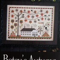 Betsy's Autumn Cross Stitch Pattern Plum Street Samplers