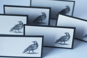Black Raven Halloween Party Place Card Set