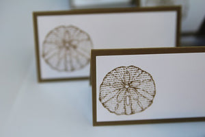 Sand Dollar Wedding Place Card Set, Destination Ocean Beach Wedding Escort Cards