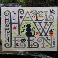 Happy Halloween Cross Stitch Pattern Silver Creek Samplers