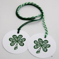 Celtic Wedding Shamrock Gift Tag Set, Shamrock, Wine Tags, Irish Favor Tags