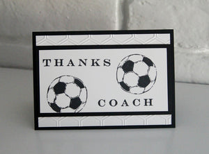 Soccer Coach Thank You End of Season Card, Thanks Coach Soccer Ball Card, Soccer Team Card