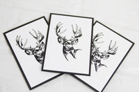 Stag All Occasion Note Card Set Stationery for Men, Masculine Note Cards
