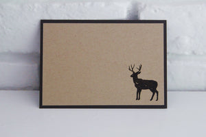 Stag All Occasion Small Note Cards Set, Masculine Thank You Notes