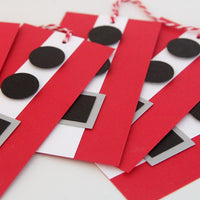 Santa Suit Christmas Gift Tags, Santa Claus Tags for Presents, Kris Kringle Favor Tags