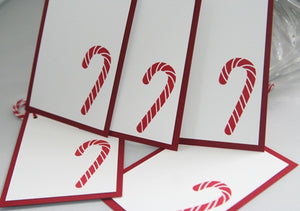 Candy Cane Christmas Gift Tag Set, Holiday Tags for Hostesses Gifts and Food