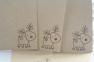 Reindeer Christmas Gift Tag Set, Holiday Tags for Food, Hostess Gifts and Party Favors