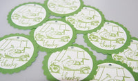 Golf Party Favor Thank You Gift Tags Set, Golf Wedding Favor Tags, Wine Tags