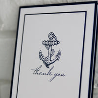 Anchor Thank You Greeting Card, Nautical Thanks