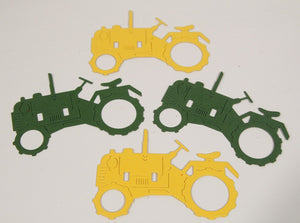 Tractor Die Cuts, Tractor Birthday Party Confetti, Farm Party Decorations