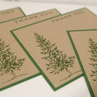 Tree Thank You Note Card Stationery Set, Masculine Stationery Thank You Cards, Christmas Thank You Notes