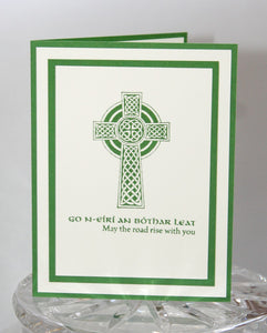 Celtic Cross May the Road Rise Irish Blessing Thinking of You Greeting Card