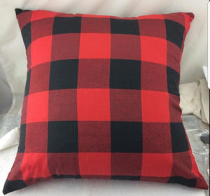 Buffalo plaid pillow cover - Extras - Ready to ship early Dec