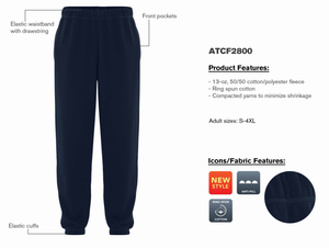 ATC EVERYDAY FLEECE SWEATPANTS - ATCF2800 - Dark Heather Grey - backordered