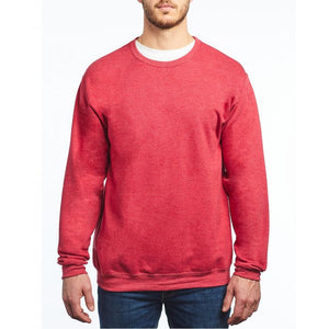 M&O - Unisex Crewneck Fleece - 3340 - Heather Red - ends Monday night overnight - ready to ship Friday