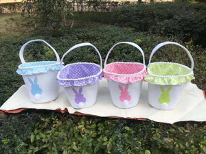Easter Bunny Frilly Bucket - Extras - Ready to ship late March