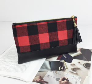 Cosmetic bag - plaid - Extras - Ready to ship late March