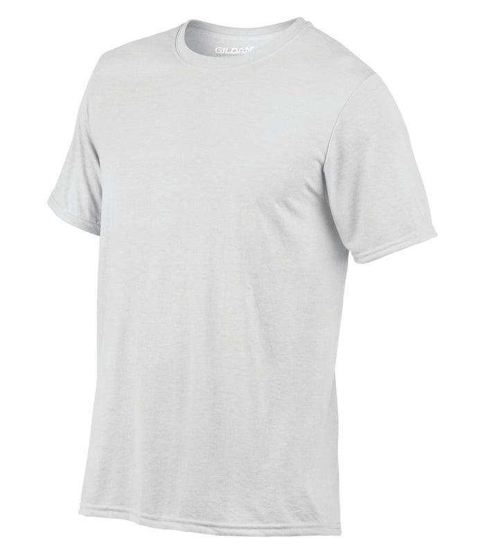 Gildan G42000 Performance Polyester T-Shirt - White - ENDS Monday night - Ready to ship Friday