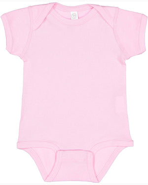 Rabbit Skins Infant Baby Rib Bodysuit - LIGHT PINK - RS4400 - Ends Monday overnight - Ready To Ship Friday